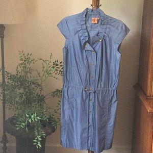 Tory Burch chambray dress.  Size 10